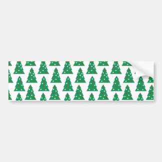 Fun Holiday Tree Pattern Bumper Sticker