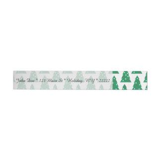 Fun Holiday Tree Pattern Wraparound Address Label