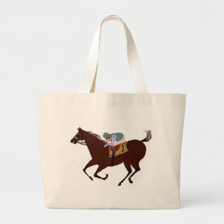 Fun Horse Racing Design Jumbo Tote Bag