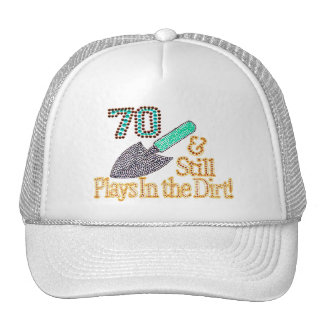 70th birthday party hats 70th birthday party trucker hat for Gardening gifts for him