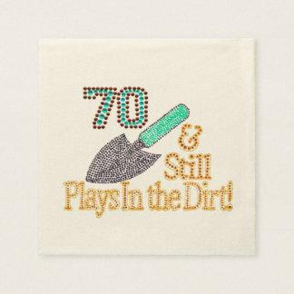 Fun Humor Gardening 70th Birthday Party Gift Disposable Serviettes