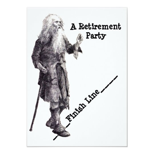 Fun Humour Man Reaching Retirement Party Card