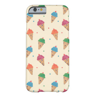 Fun Ice Cream Pattern Barely There iPhone 6 Case