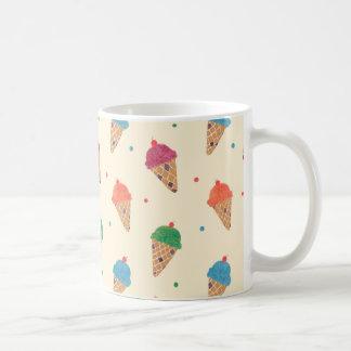Fun Ice Cream Pattern Basic White Mug