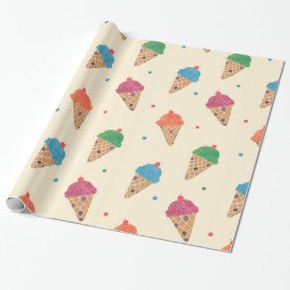 Fun Ice Cream Pattern Wrapping Paper