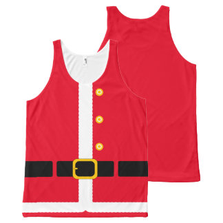 Fun imitation Christmas Santa Suit costume… All-Over Print Singlet
