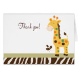 Fun in the Jungle Giraffe Folded Thank you notes Cards