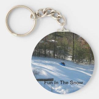 Fun In The Snow Key Chain