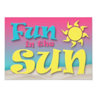 Fun in the Sun - Beach Party Invitations