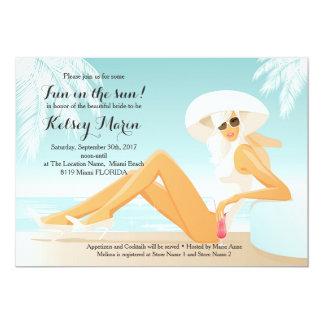 Fun in the Sun Bridal Shower Pool Party Invitation