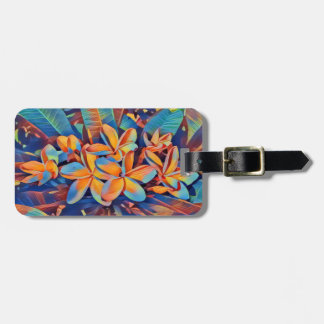 Fun in the sun frangipanis luggage tag