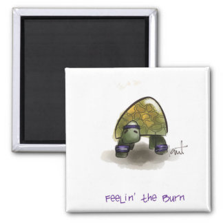 Fun & Inspirational Turtle Magnets 2 Inch Square Magnet