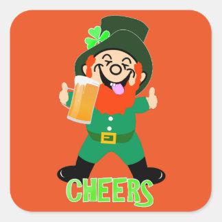 Fun Irish Themed  Lucky Leprechaun Theme Square Sticker