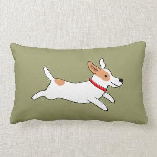 Fun Jack Russell Terrier - Color Customizable Lumbar Cushion