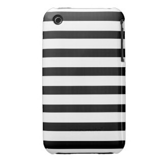 Fun Jailbird Black and White Striped Pattern iPhone 3 Covers