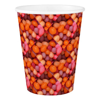 Fun Jelly Beans Candy Pattern Paper Cup