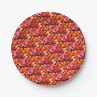 Fun Jelly Beans Candy Pattern Paper Plate