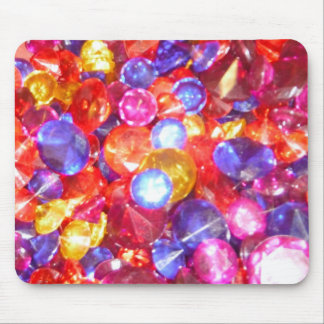 Fun Jewels Gems Colorful Colors Vibrant Pretty Mouse Pad