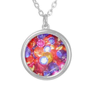 Fun Jewels Gems Colorful Colors Vibrant Pretty Pendant