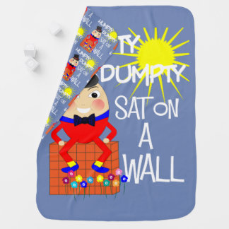 Fun Jolly Nursery Rhyme Humpty Dumpty Cute Baby Blanket