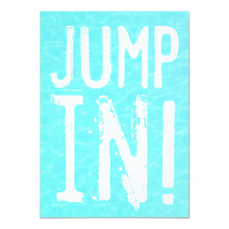 Fun Jump in Pool Party Invitation