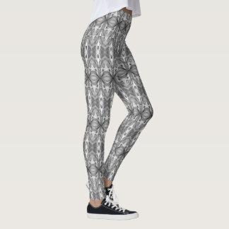 Fun Kaleidoscope Pattern, Black & Gray Leggings