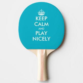 Fun Keep calm table tennis ping pong paddle