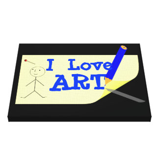 Fun Kids I Love Art Picture Gallery Wrapped Canvas
