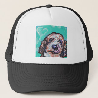 Fun Labradoodle Dog bright colorful Pop Ar Trucker Hat