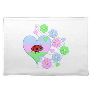 Fun Ladybug Heart Placemat