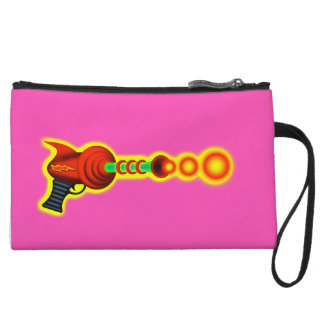 Fun Laser Ray Gun Sci-Fiction Retro Geeky Nerdy! Wristlet Purse