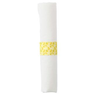 Fun Lemon fruit stripe pattern party napkin bands