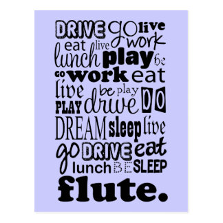 Fun Life For The Flute Player Postcard