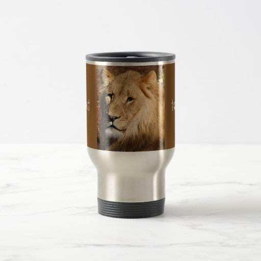 Fun! Lion Travel Coffee Mug Stainless Steel