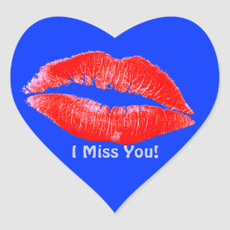 Fun Lipstick Kisses Miss You Romantic LIP STICKERS