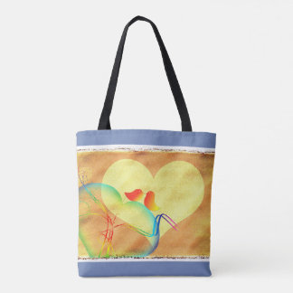 Fun Love Birdies Tote Bag
