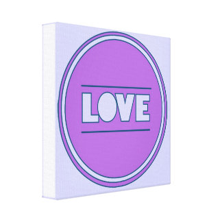 Fun Love pink purple by healinglove customize Stretched Canvas Prints