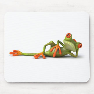 Fun lying frog ! mouse pad