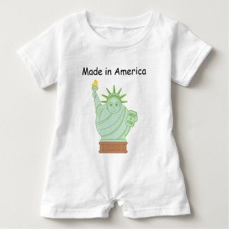 "Fun ""Made in America"" cartoon ""Statue of Liberty"", Baby Bodysuit"