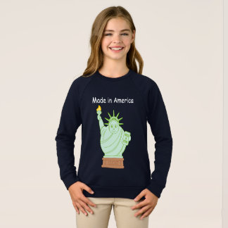 "Fun ""Made in America"" cartoon ""Statue of Liberty"", Sweatshirt"