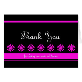 Fun Maid of Honor Thank You Card