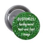 FUN! MAKE YOUR OWN GREEN GLITTER PIN!