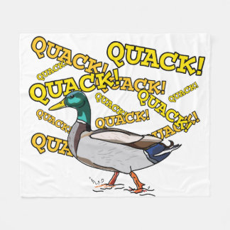 Fun Male Mallard Duck Walking Quack Fleece Blanket