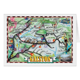 Fun Map of Galston, NSW Card