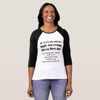 Fun marriage proposal t-shirt, tee