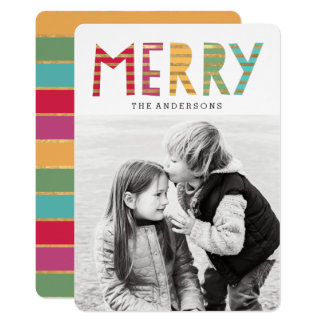 Fun Merry Holiday Photo Card 13 Cm X 18 Cm Invitation Card