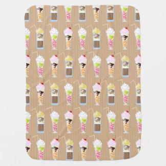 Fun Milk Shake Design Receiving Blanket