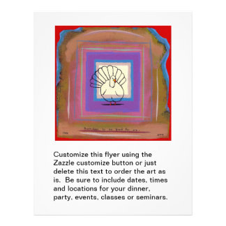 Fun modern art turkey Thanksgiving unique 21.5 Cm X 28 Cm Flyer