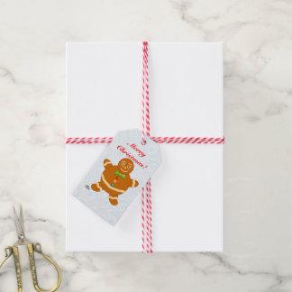 Fun modern cartoon of a Gingerbread man cookie, Gift Tags