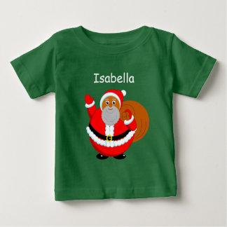 Fun modern cartoon of a jolly Black Santa Claus, Baby T-Shirt